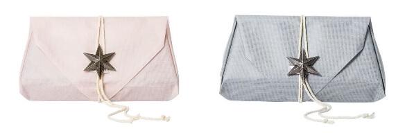【マールマール】名前刺繍入りタオルブランケット、ギフトラッピングの様子