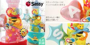 名前入りおむつケーキ[Sassy]